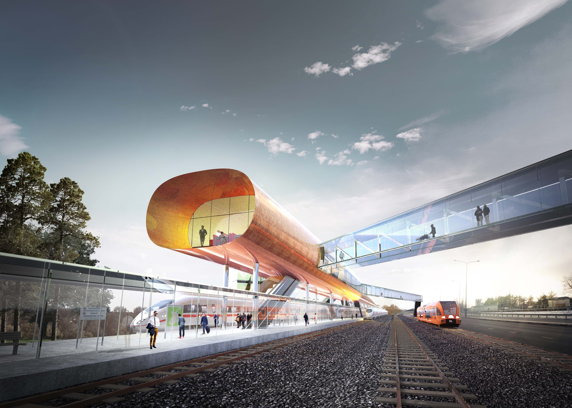Arhitektuuribüroo PLUSS Wins Competition for Railway Station in Pärnu, Courtesy of Arhitektuuribüroo PLUSS