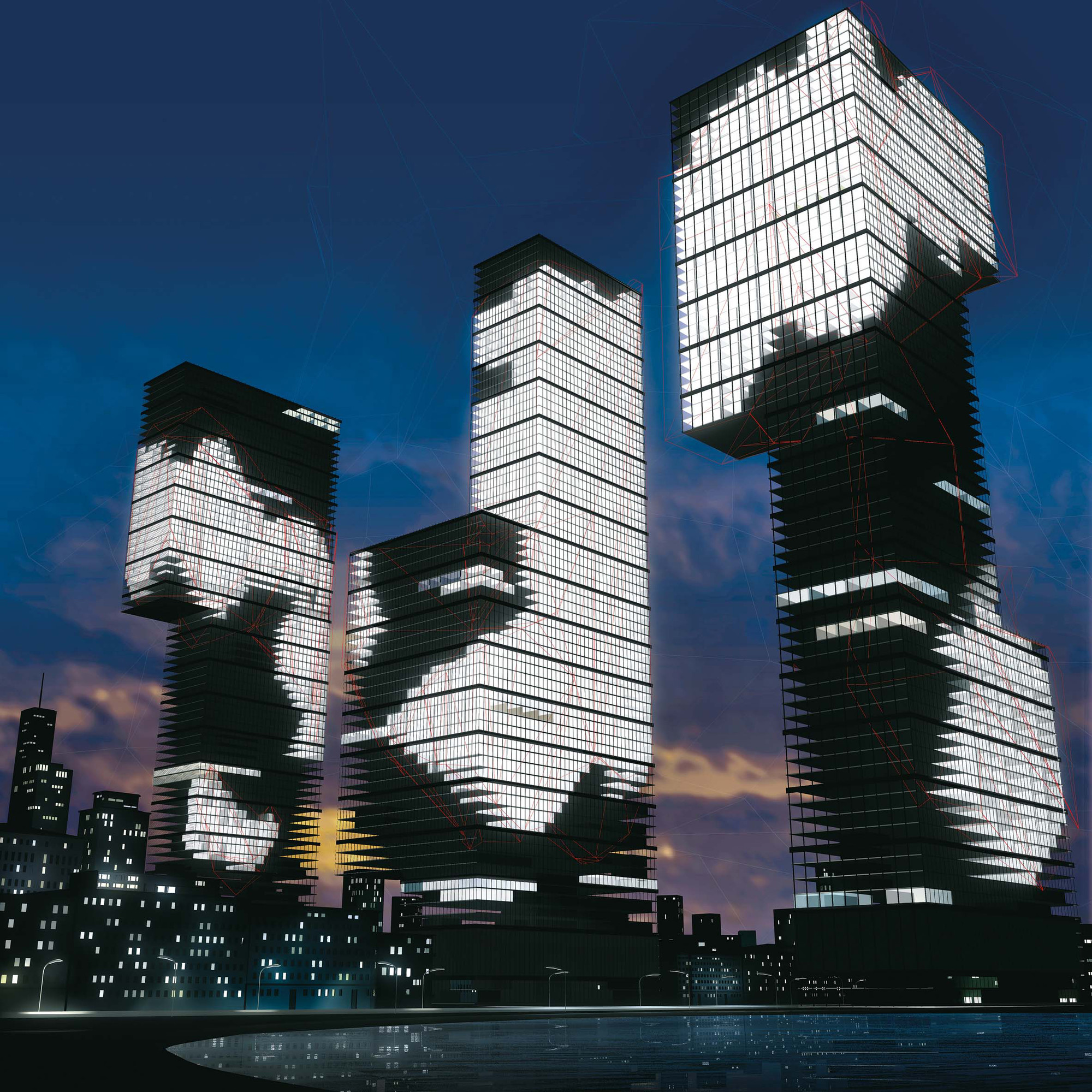 Realities:united, NIX, simulation drawing, 2005. Exhibition: Lightopia, Gent. Image © realities:united