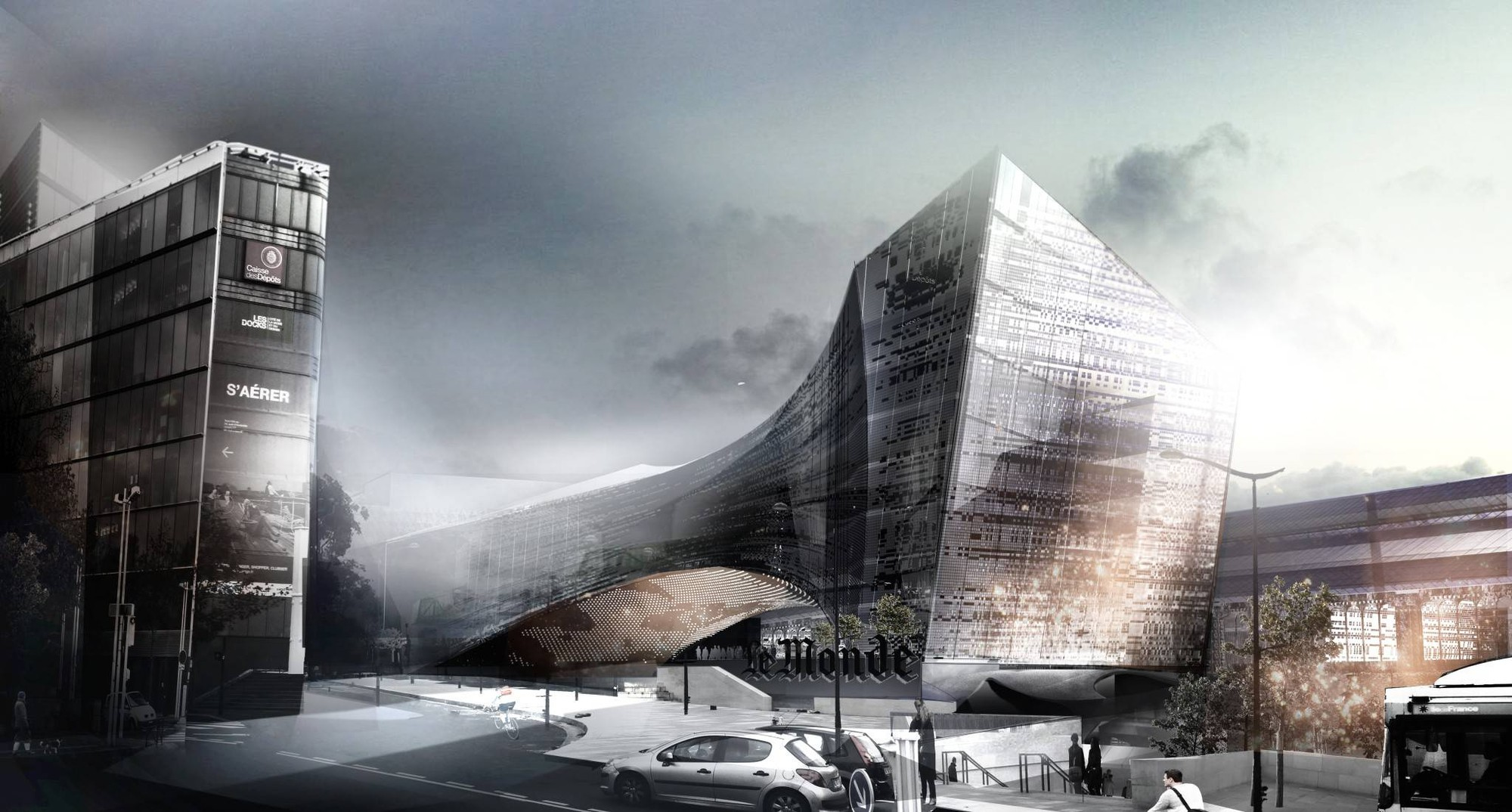 Snøhetta Chosen to Design Le Monde Headquarters in Paris, Courtesy of Snøhetta