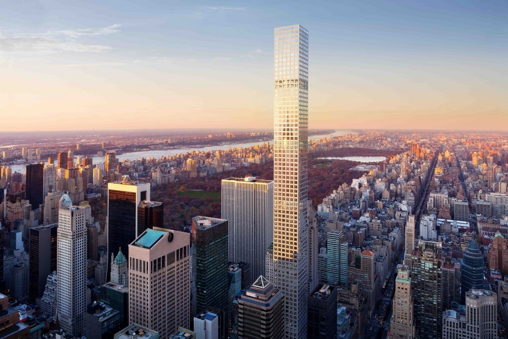 Work on 432 Park Avenue Ceases Briefly Due to Falling Construction Debris, © dbox for CIM Group and Macklowe Properties