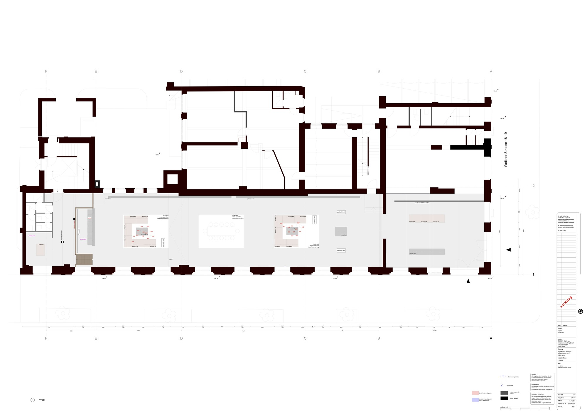 Floor Plan With Loft A Space Lofts In Berlin Mitte Plajer Amp Franz Studio