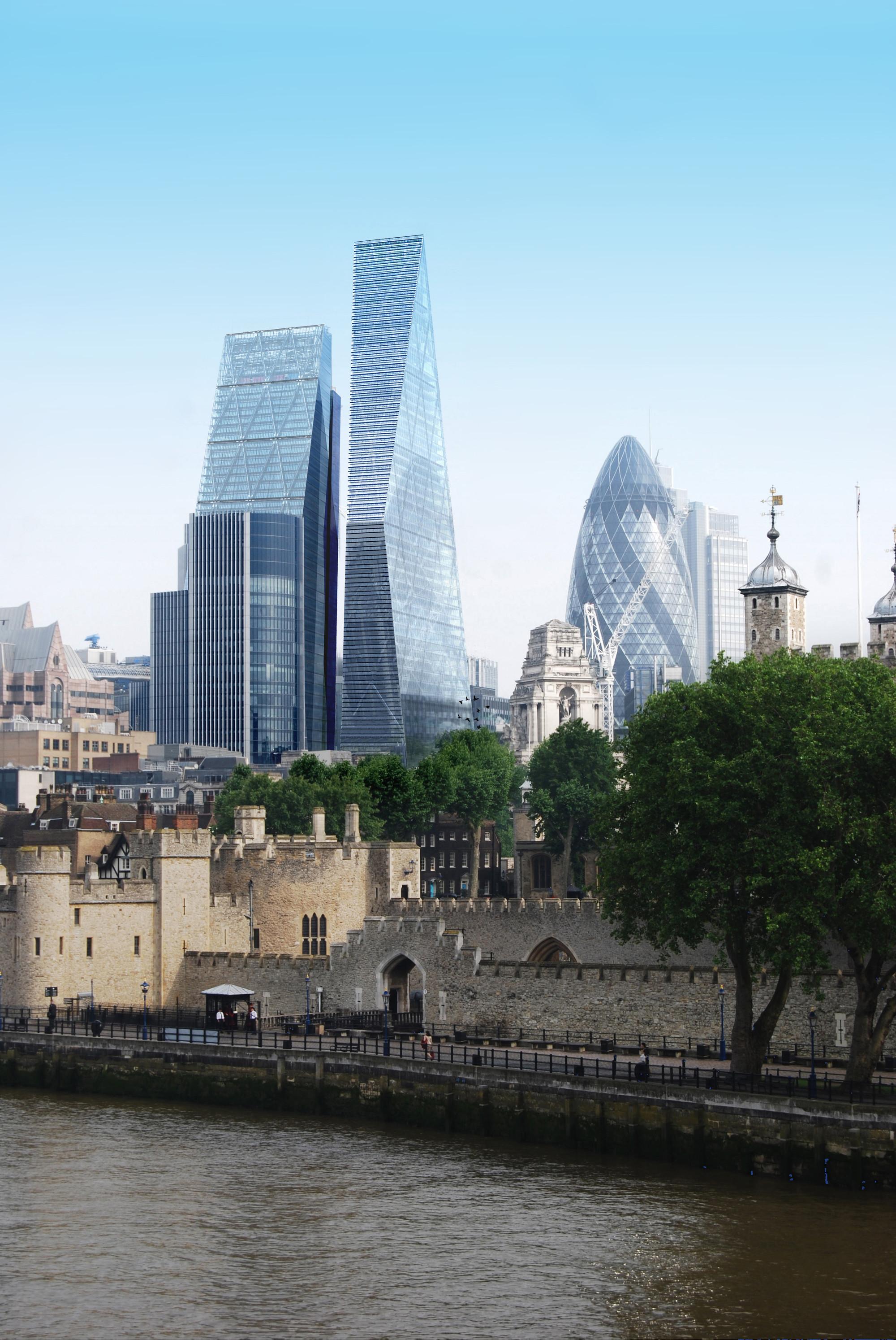 Avery Associates divulga o projeto para uma torre de 270 metros em Londres
