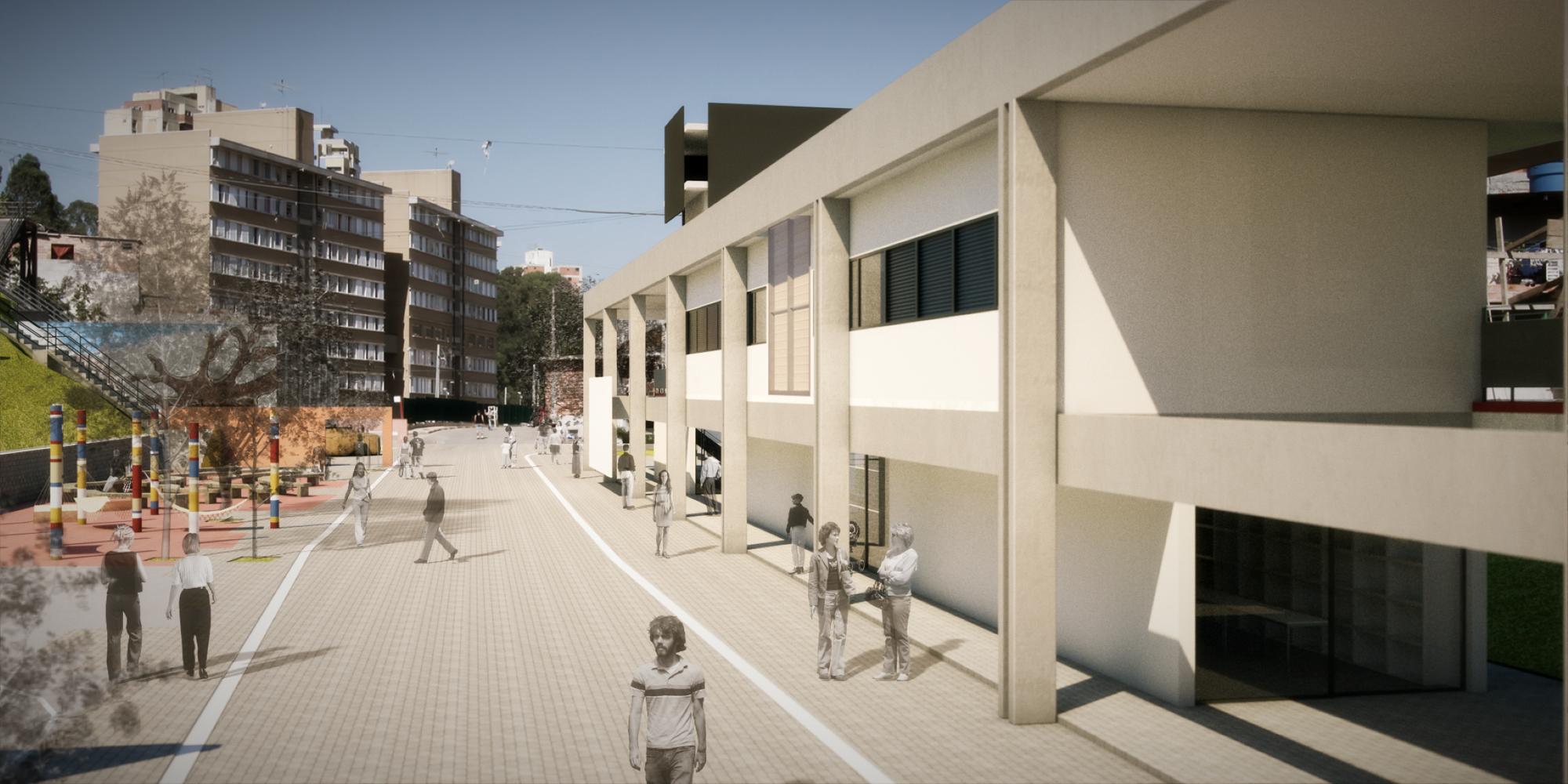 Grotinho de Paraisópolis . Construindo espaços de convívio / Boldarini Arquitetos Associados, Cortesia de Boldarini Arquitetos Associados