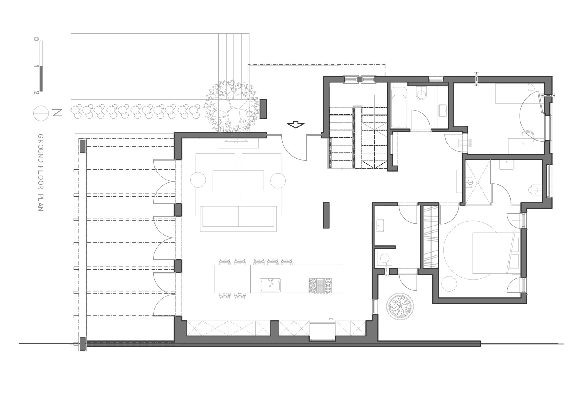 Gallery of a modern kibbutz house henkin shavit for Modern house layout plan