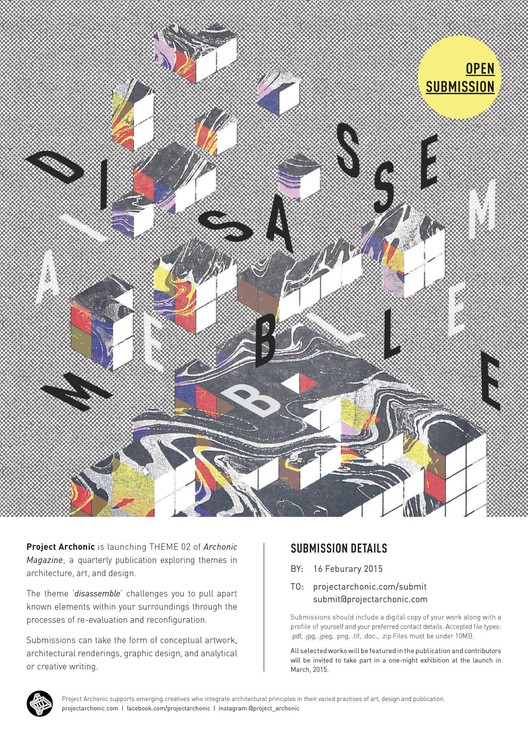 "Call for Submissions: Archonic Magazine #2 ""Disassemble"" , Courtesy of Project Archonic"