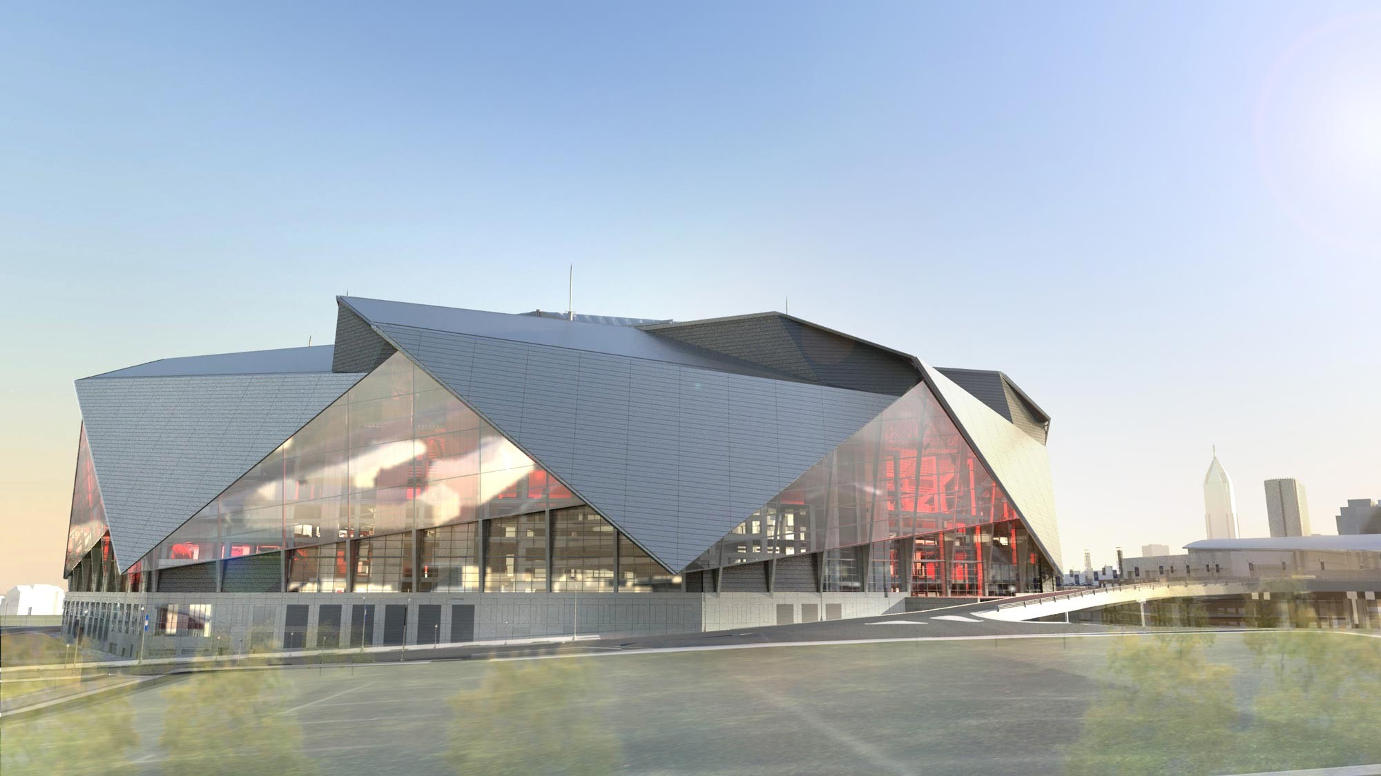 Gallery Of 360 Architecture Tops New Atlanta Stadium With