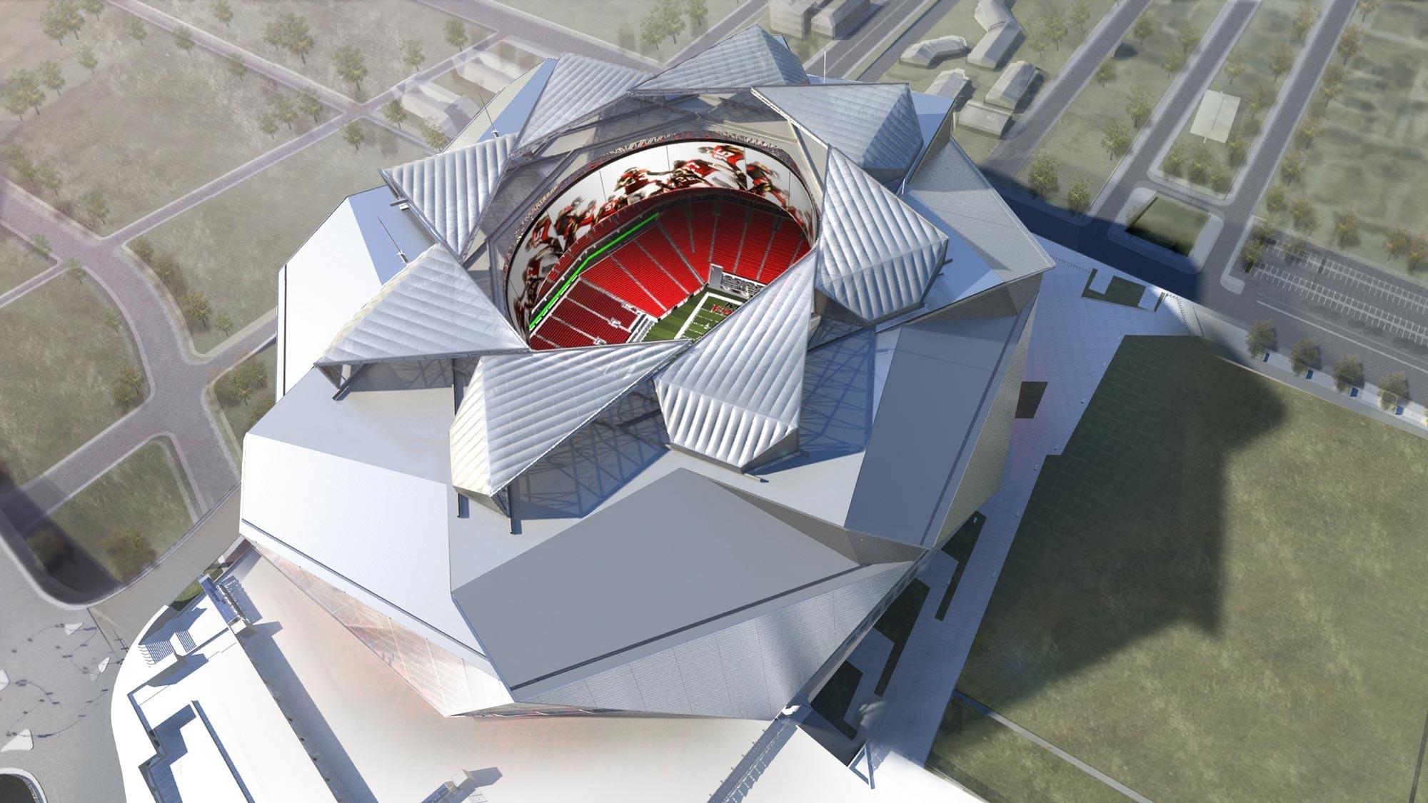 La cubierta retráctil diseñada por 360 Architecture para el nuevo Estadio de Atlanta, Cortesía de New Atlanta Stadium