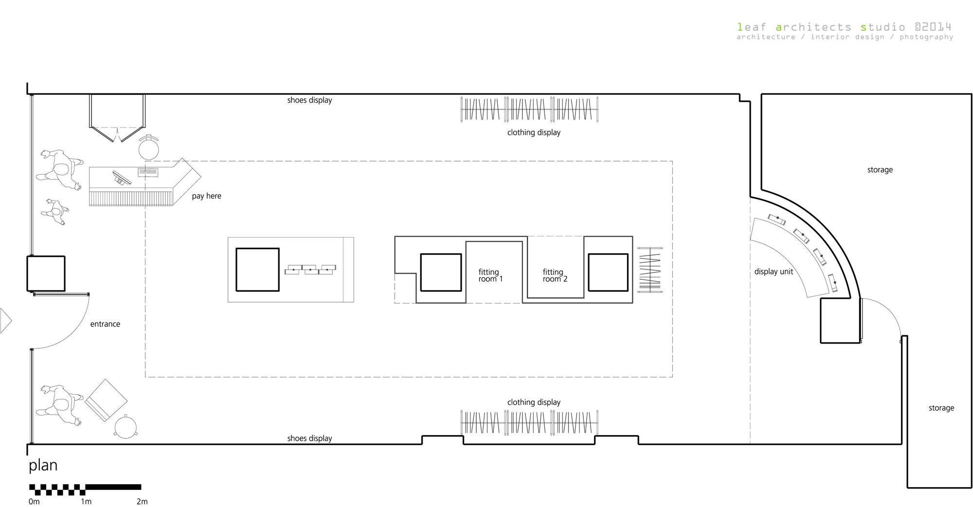 Galeria de loja ai sport leaf architects studio 16 for 100 floors floor 74