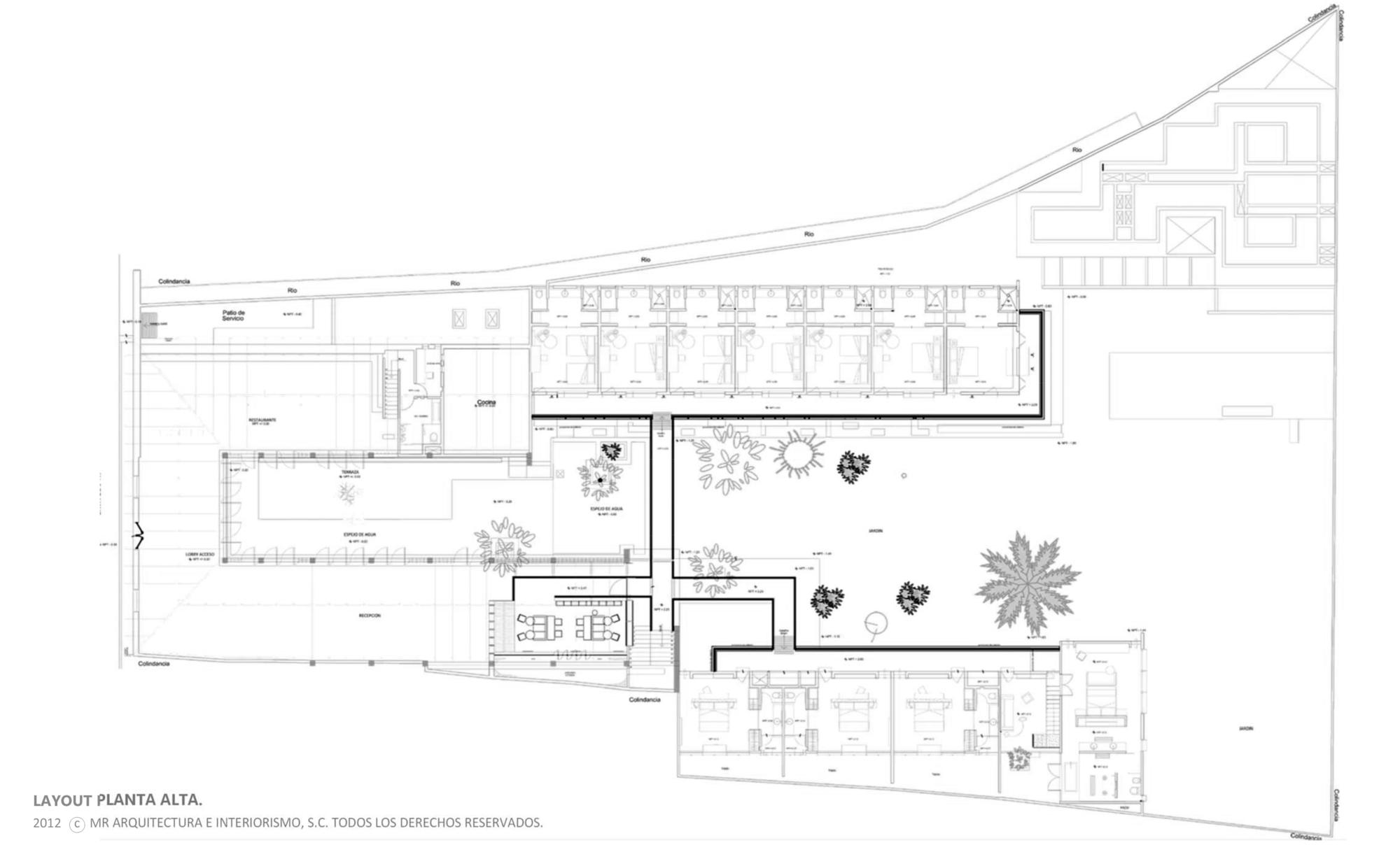 Gallery Of B O Hotel Muro Rojo Arquitectura 19