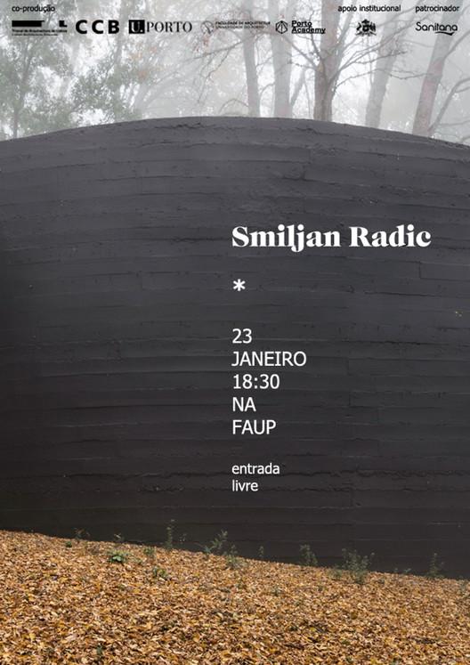 Aula magna com  Smiljan Radić na FAUP, Cortesia de FAUP