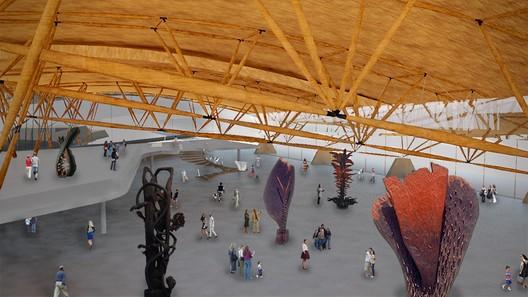 Vista interna do mezanino. Image Cortesia de Estudio America