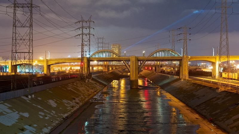 Redesigning Los Angeles For Long-Term Drought, Los Angeles River (2013). Image © Flickr CC User Steve Lyon
