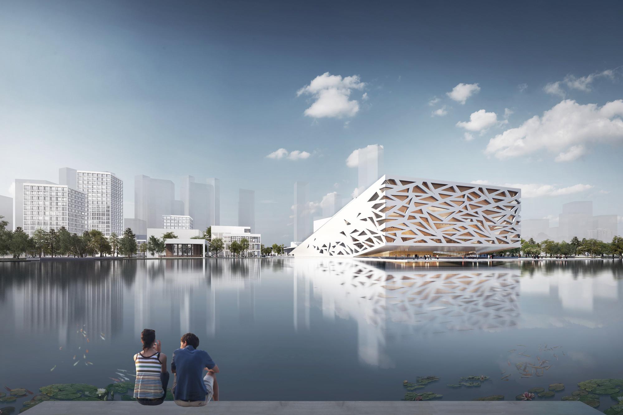 Primeiras imagens da Yuhang Opera de Henning Larsen Architects, © Henning Larsen Architects