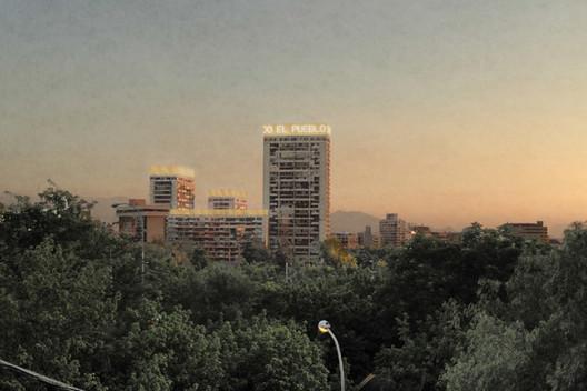 Plan Común, Tercer Lugar en Concurso para plaza pública de Torres de Tajamar, Cortesia de Municipalidad de Providencia