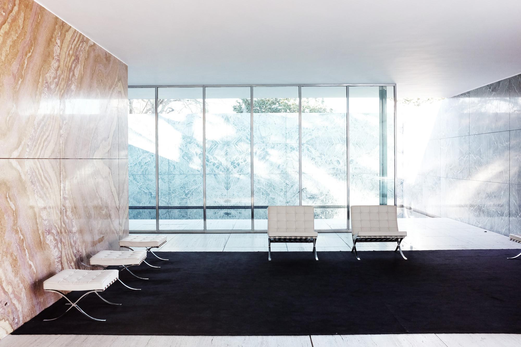 gallery of ad classics barcelona pavilion mies van der rohe 3. Black Bedroom Furniture Sets. Home Design Ideas