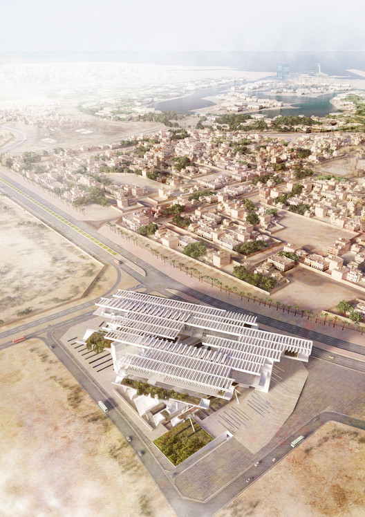 "AGi architects' ""Floating"" Courthouse Wins Second Prize in Qatar Competition, © Poliedro Estudio"