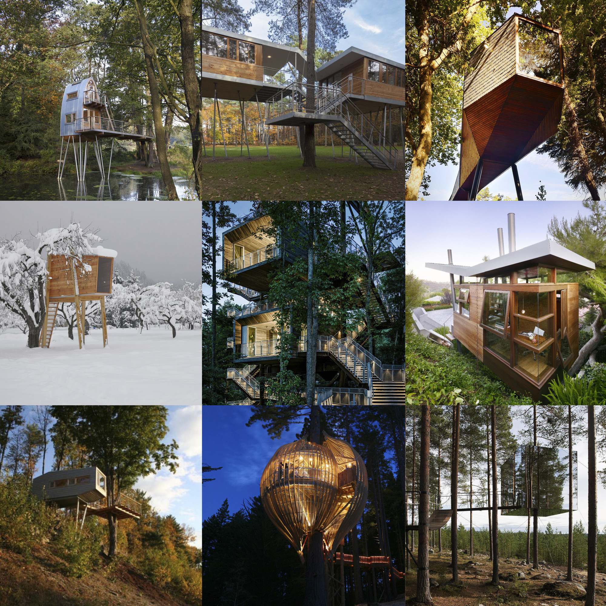 9 Stunning Treehouses that Will Bring Out Your Inner Child