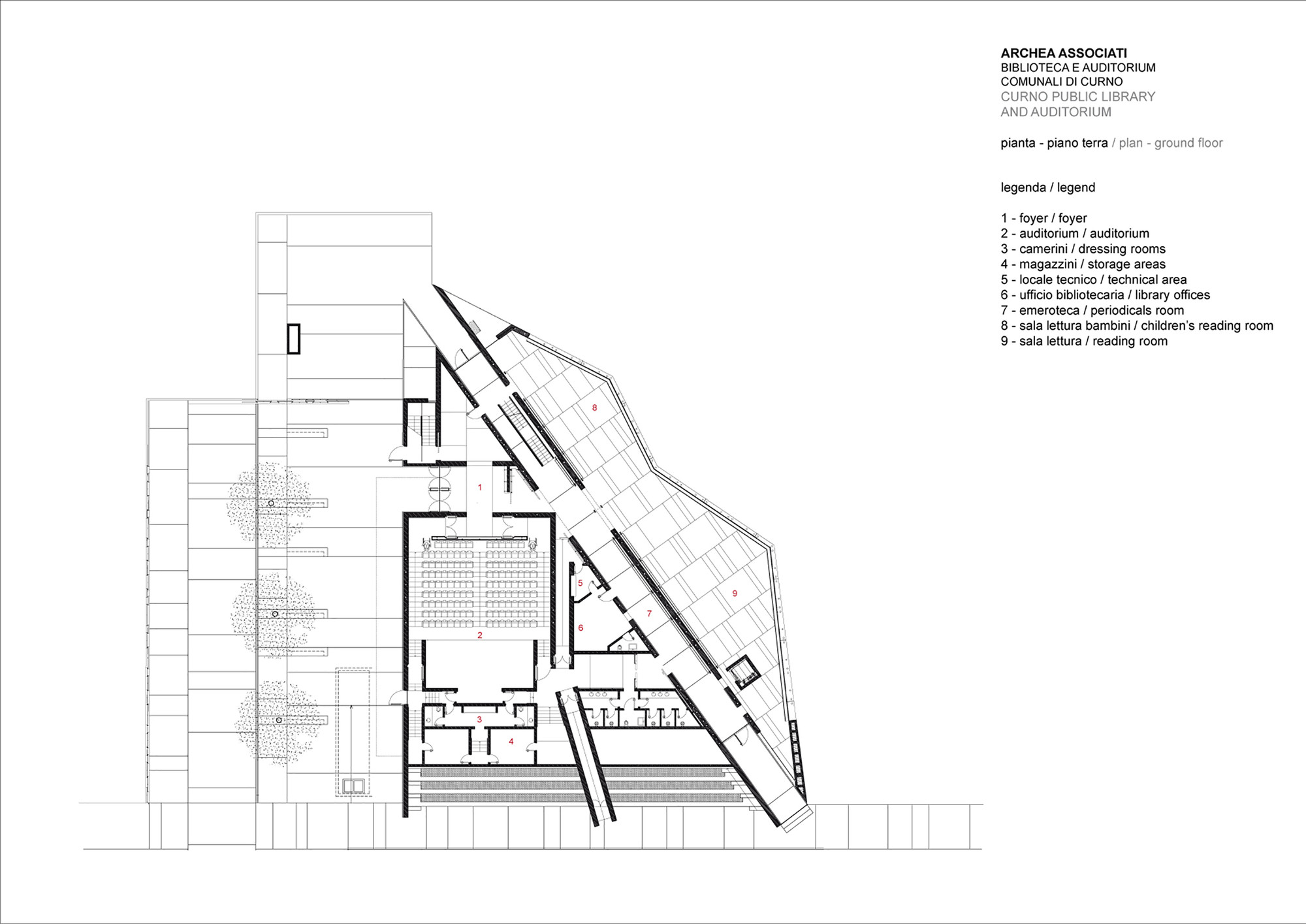 Curno Public Library and Auditorium / Archea Associati