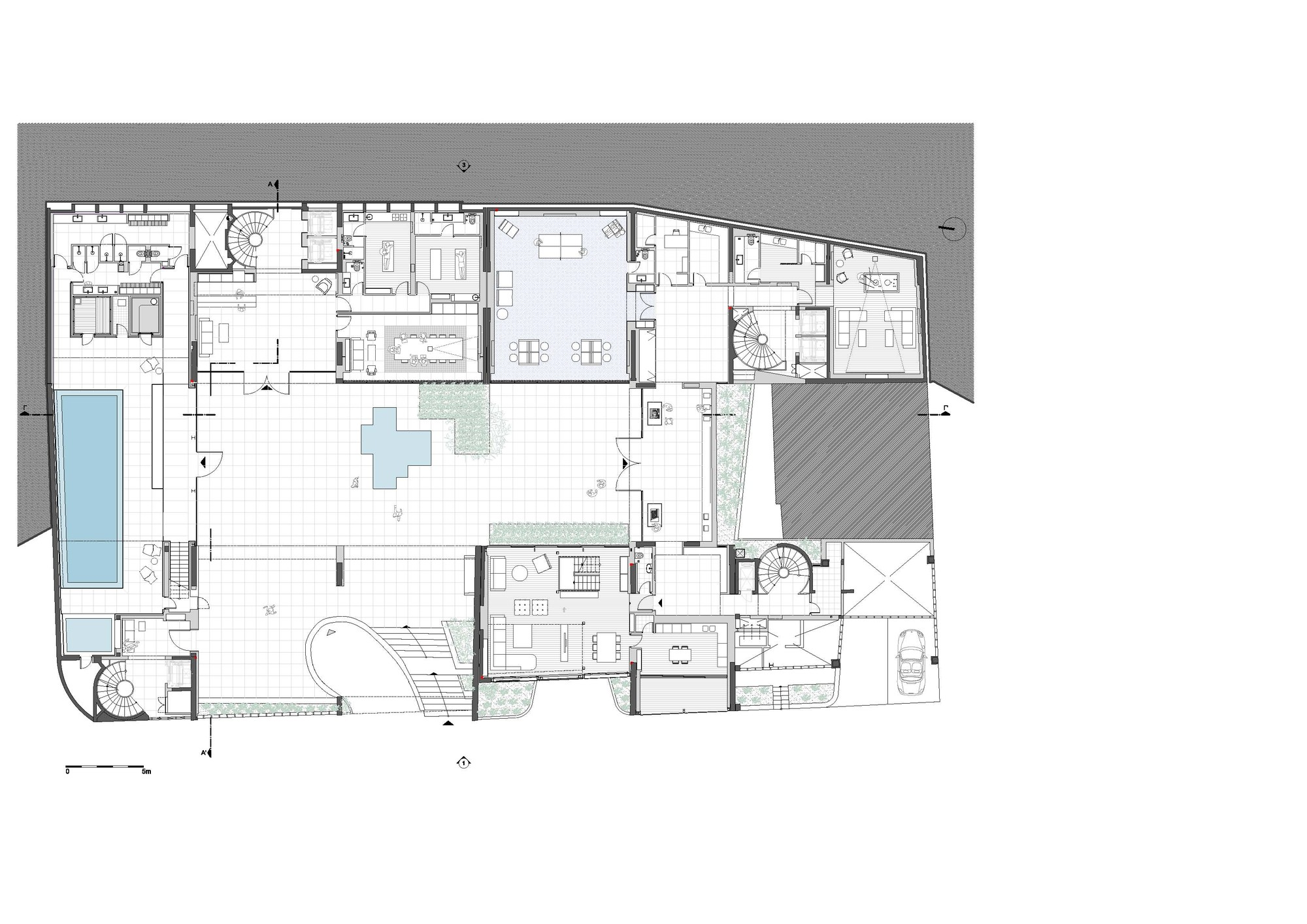 Conversion Of Doxiadis Office Building Ati To Apartment Divercity Ground Floor Plan