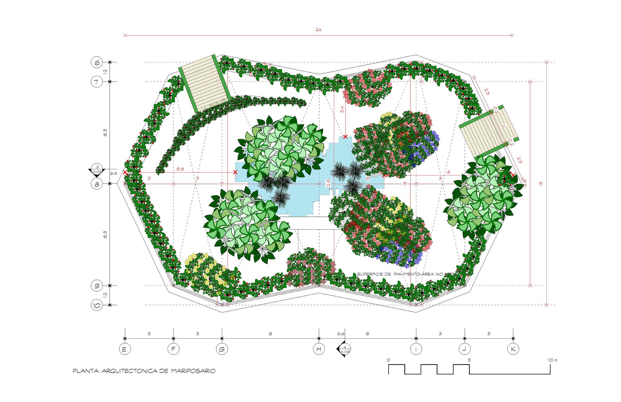 Desenhar Planta Baixa Galeria De Jardim Das Borboletas Emilio Olivo Rosa