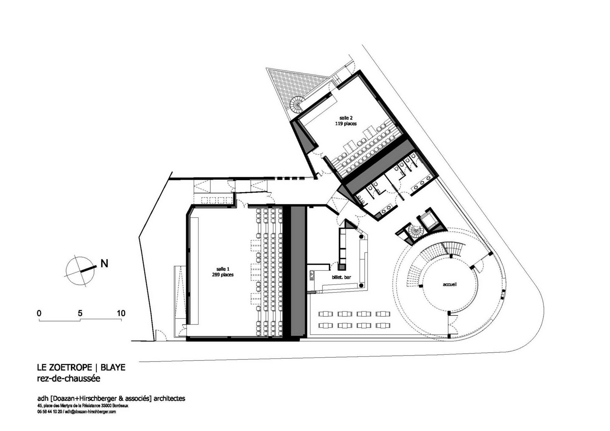 Zoetrope Cinema / ADH. Ground Floor Plan