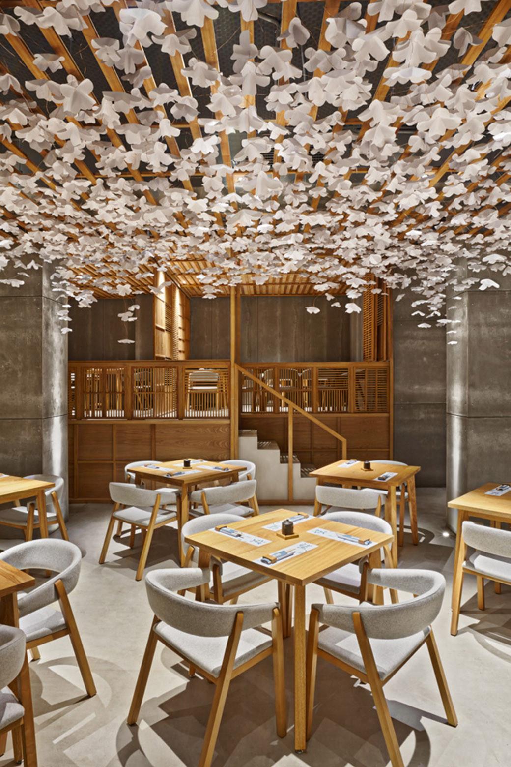galer a de nozomi sushi bar masquespacio 8. Black Bedroom Furniture Sets. Home Design Ideas