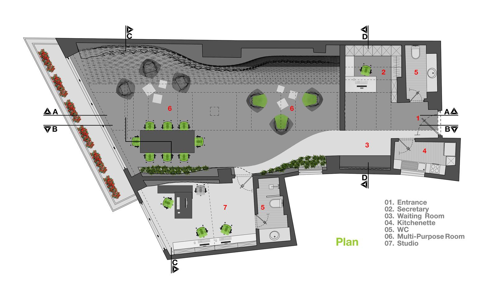 gallery of diyar media studio rena design 19 diyar media studio floor plan