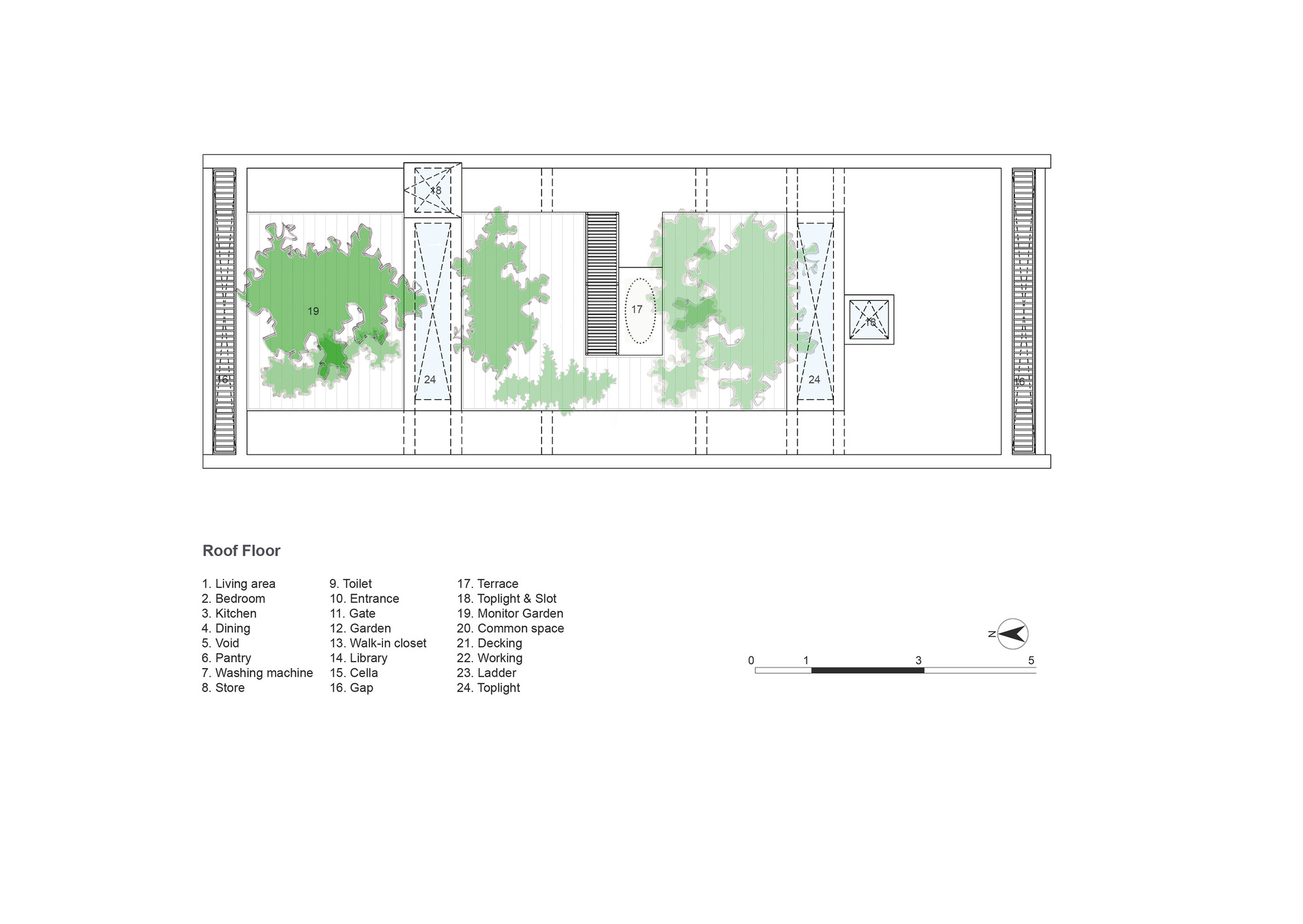Termitary House,Roof Plan