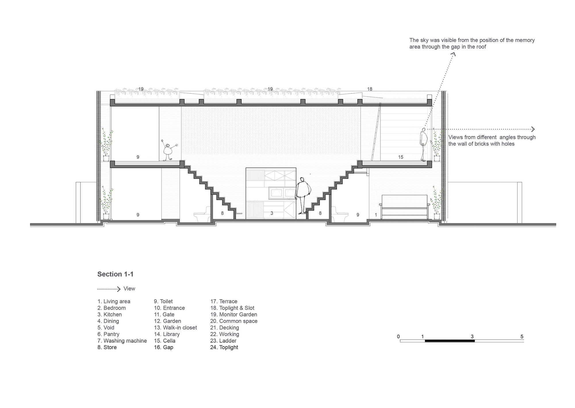 54d0649de58ece5c5e0004a9 Section 1 1 on Floor Plan Drawing