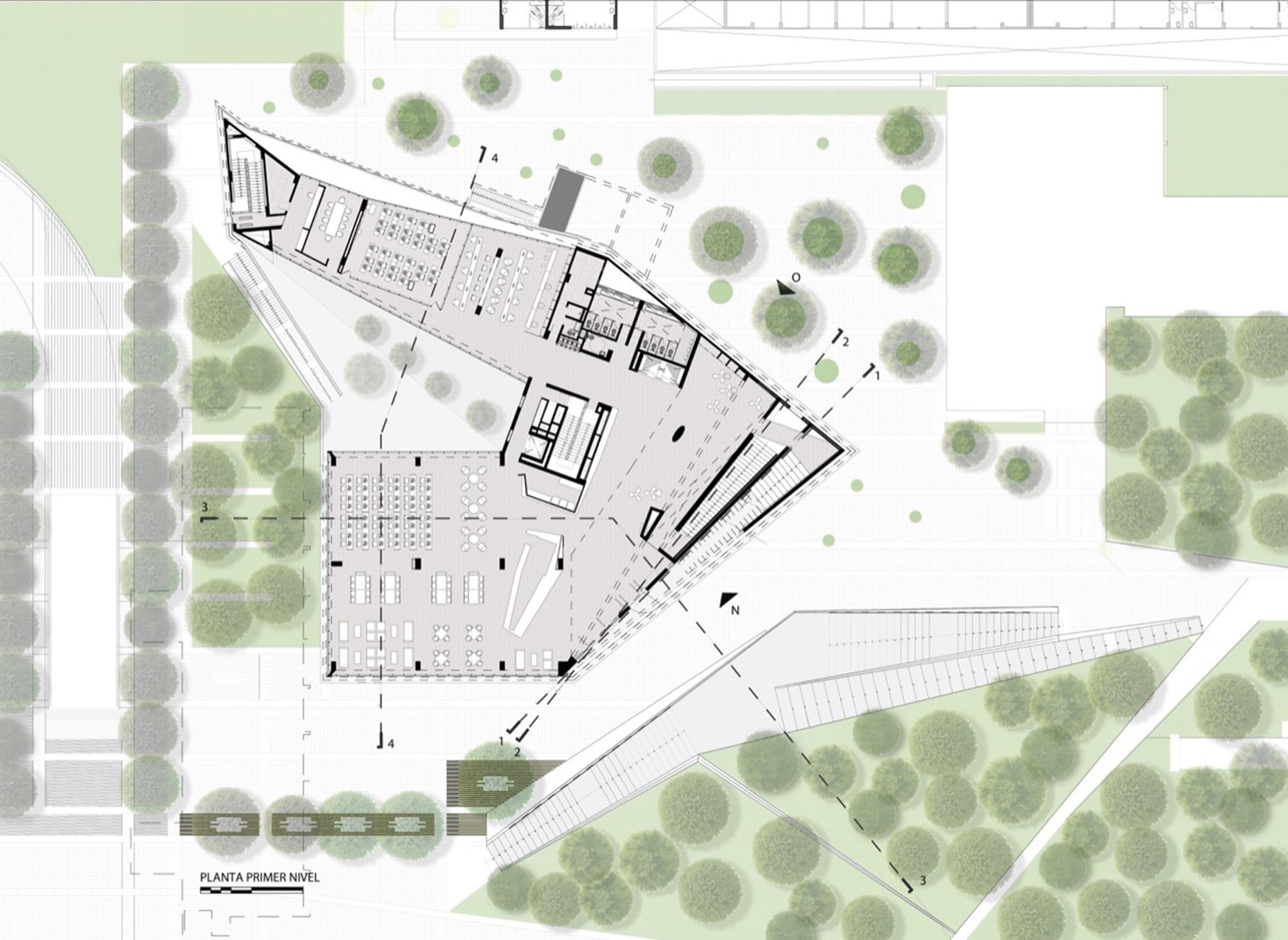 Galeria de biblioteca de ci ncias engenharia e for Planta arquitectonica biblioteca