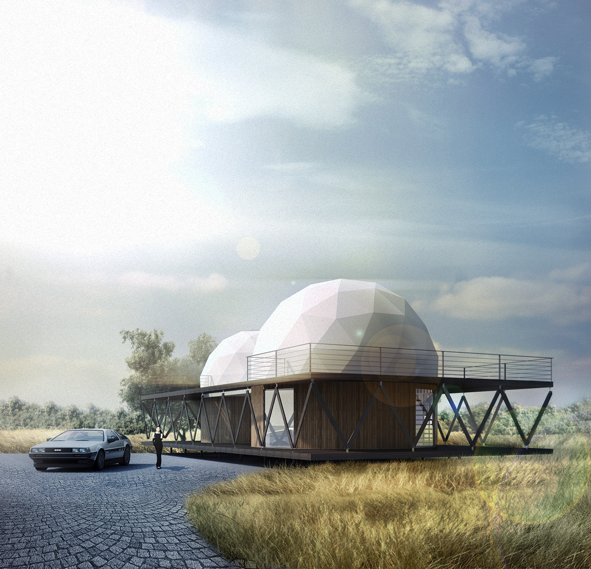 Dos domos y un z calo casa 8 por b v arquitectos - The geodesic dome in connecticut call of earth ...