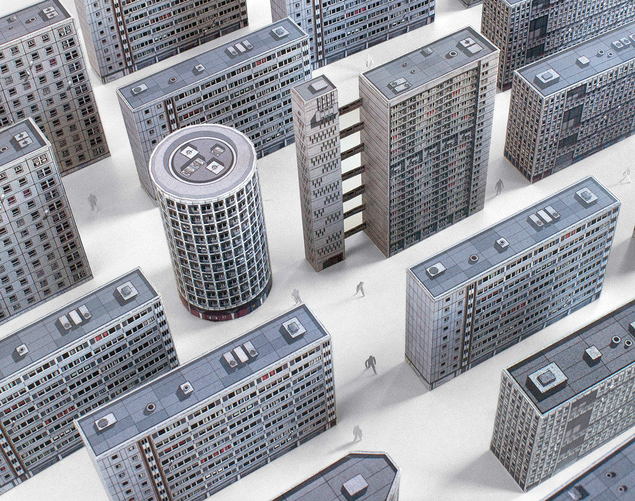 Zupagrafika Honors London's Brutalist Architecture with Paper Models , © Zupagrafika