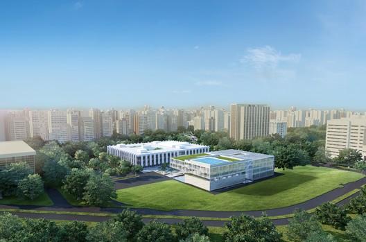Vista aérea. Image Cortesia de A3 arquitetura.engenharia
