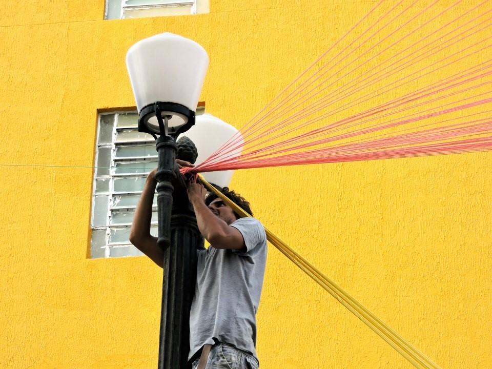 Resultado do Workshop de espaços efêmeros e intervenções urbanas em João Pessoa, © Pedro Rossi