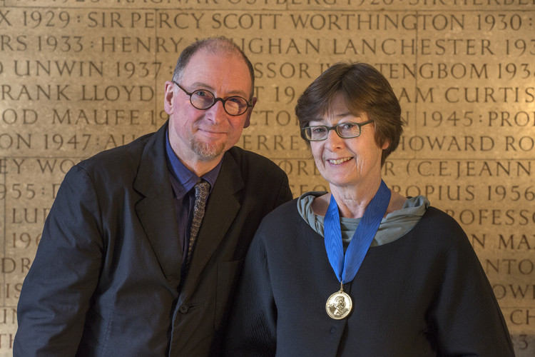 In Conversation With Sheila O'Donnell And John Tuomey, 2015 Royal Gold Medallists, John Tuomey and Sheila O'Donnell - recipients of the 2015 Royal Gold Medal. Image Courtesy of RIBA
