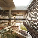 View from interior atrium. Image Courtesy of  Tsabikos Petras Architectural Studio