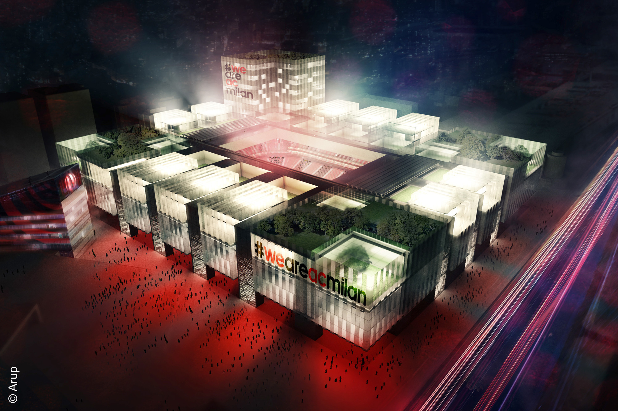 Arup Unveils Plans for New A.C. Milan Football Stadium, © AC Milan / Arup