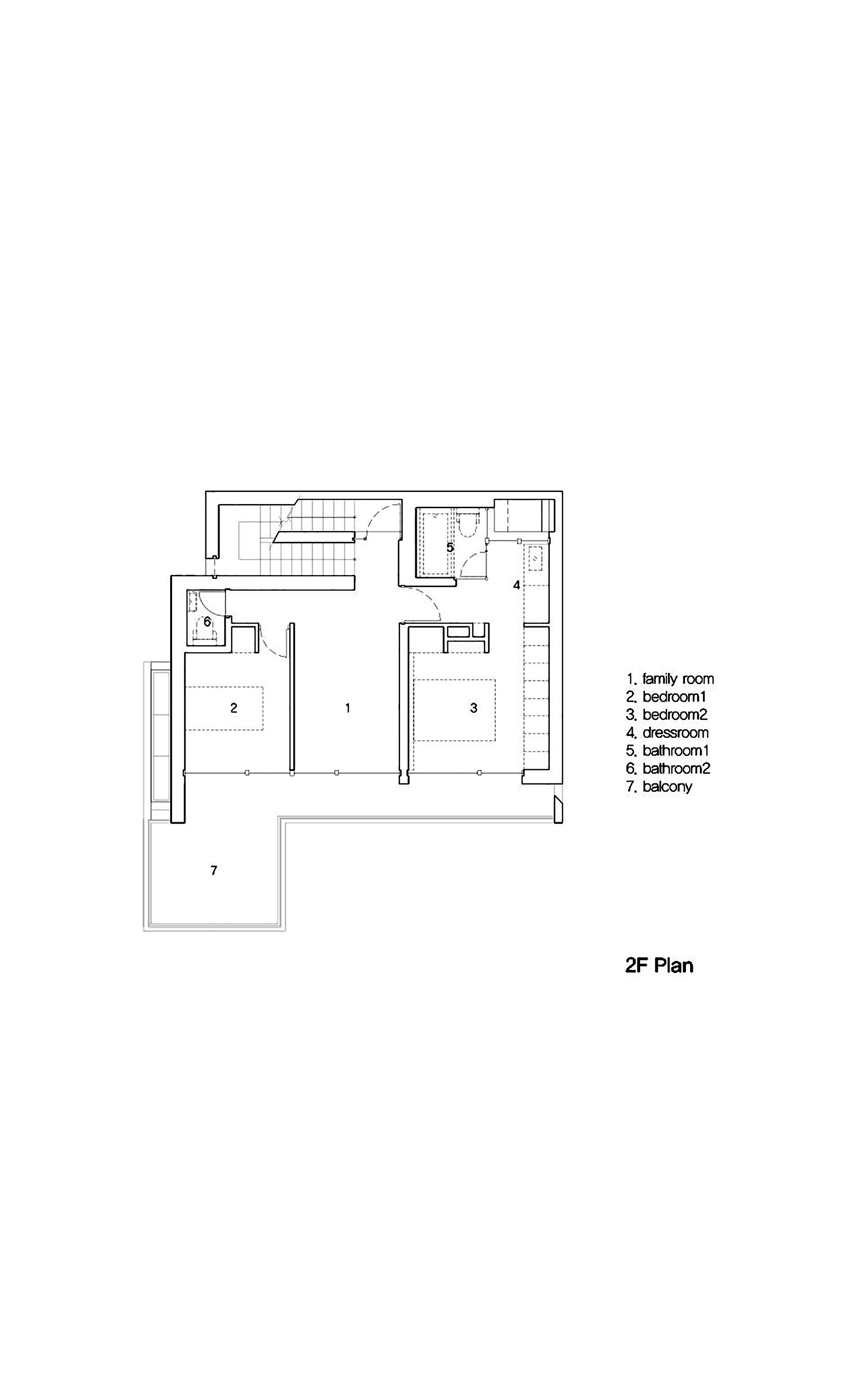 Gallery of 172M2 compact House JMY architects 15 – Compact House Floor Plans