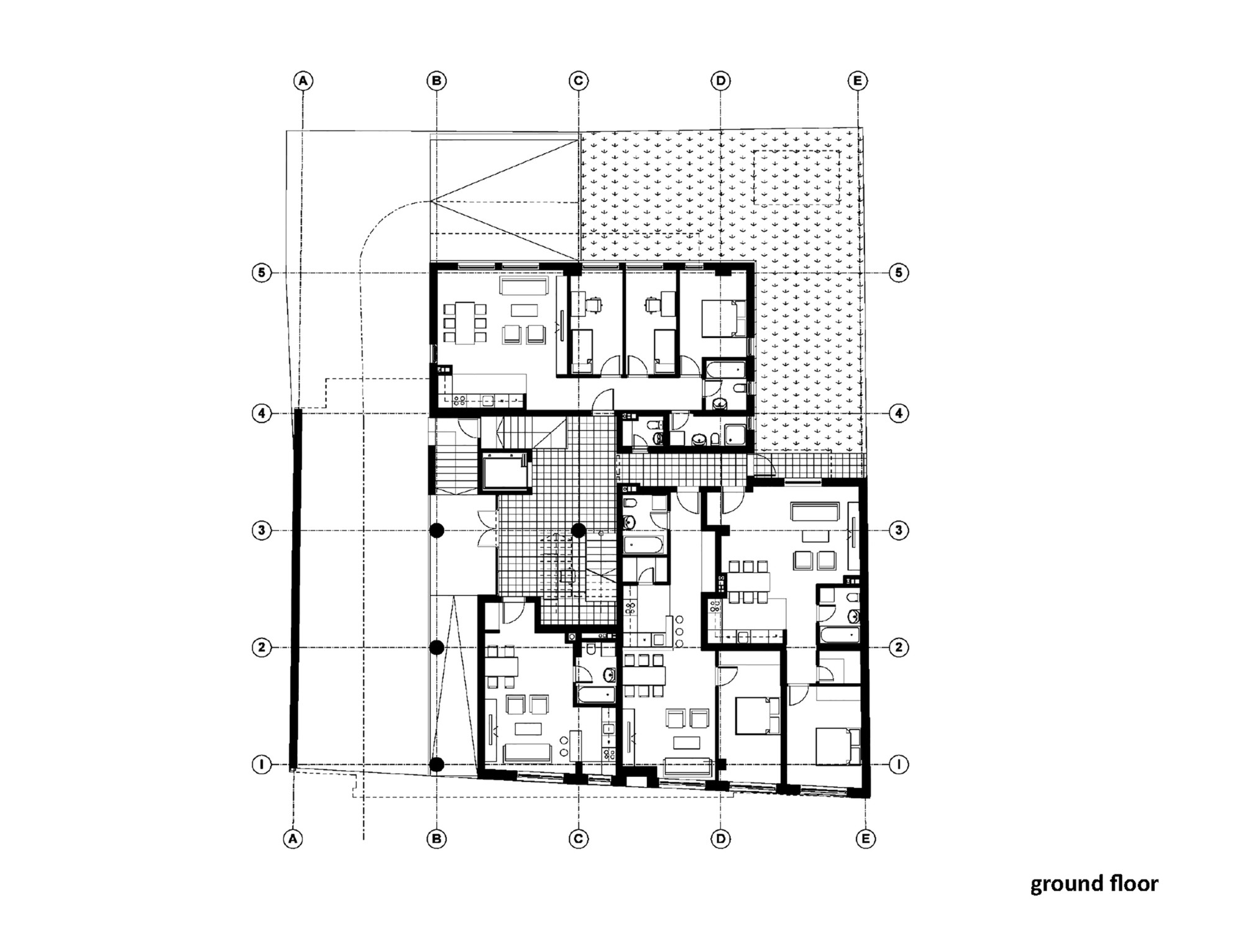 Floor plan of residential building for Residential floor plan design