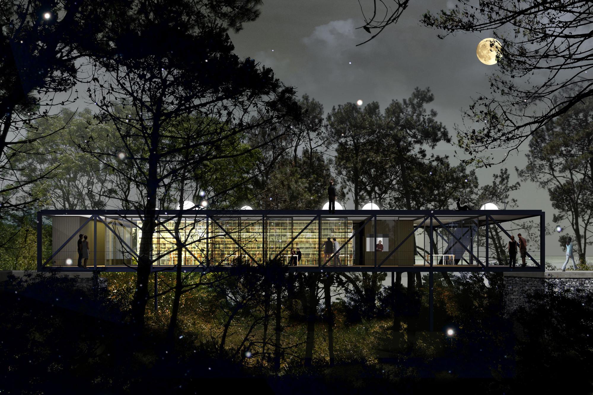 Tercer Lugar en concurso de ideas para la Biblioteca Daniel Vidart / Uruguay, Cortesia de Estudio Gualano+Gualano
