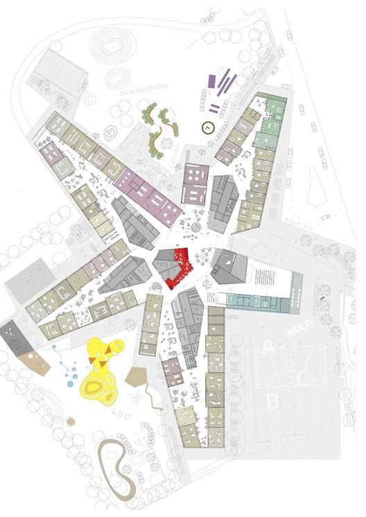 New City School, Frederikshavn / Arkitema Architects: primer nivel. Image Cortesía de Arkitema Architects