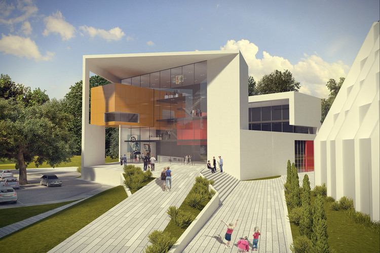 Auerbach Halevy Wins Competition to Design Jewish Sports Museum in Ramat Gan, © Lilika Studio Arch-viz Studio