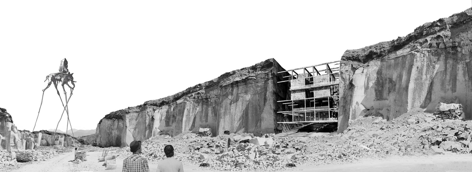 'Vivir en la piedra', Primer Lugar en concurso de ideas Inspiration Hotel 2014 / Arequipa, Perú, Cortesia de Equipo Primer Lugar
