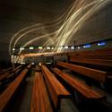 Vista para as ondas de luz na lateral sul. Igreja de Saint-Pierre, Firminy, França. Imagem © Henry Plummer 2011