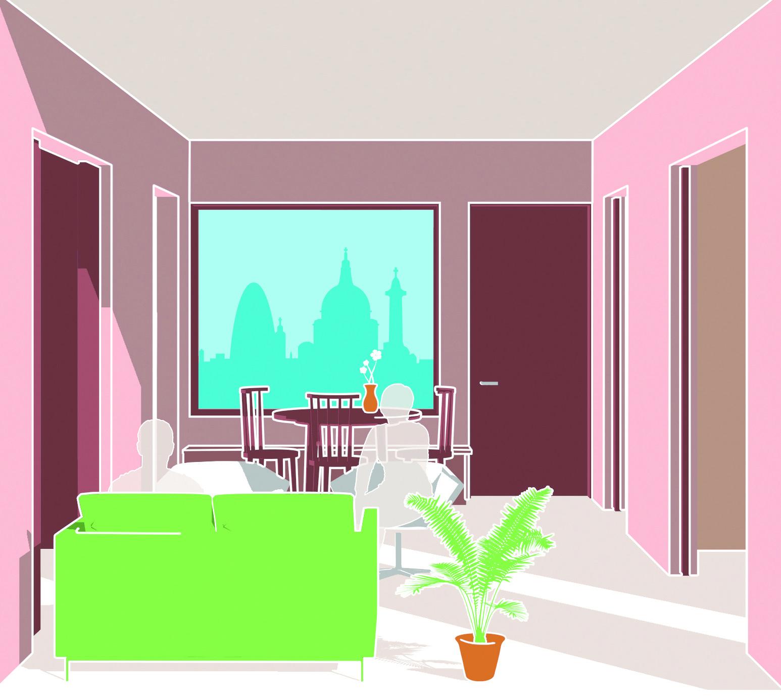 """HHbR desenvolve um """"modelo palladiano"""" de habitação acessível contemporânea, Cortesia de HHbR"""
