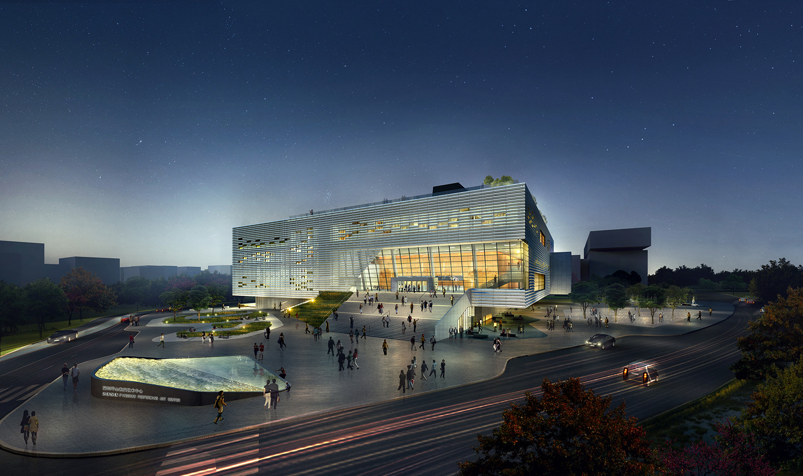 Construction begins on open 39 s pingshan performing arts for Performance house