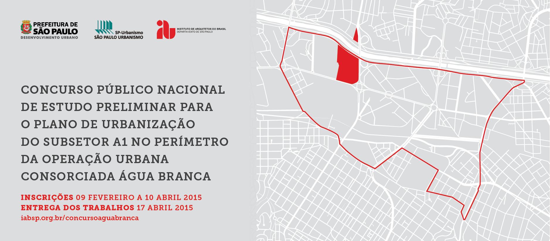 IAB-SP promove concurso para Plano de Urbanização do Subsetor A1 do Perímetro da Operação Urbana Consorciada Água Branca