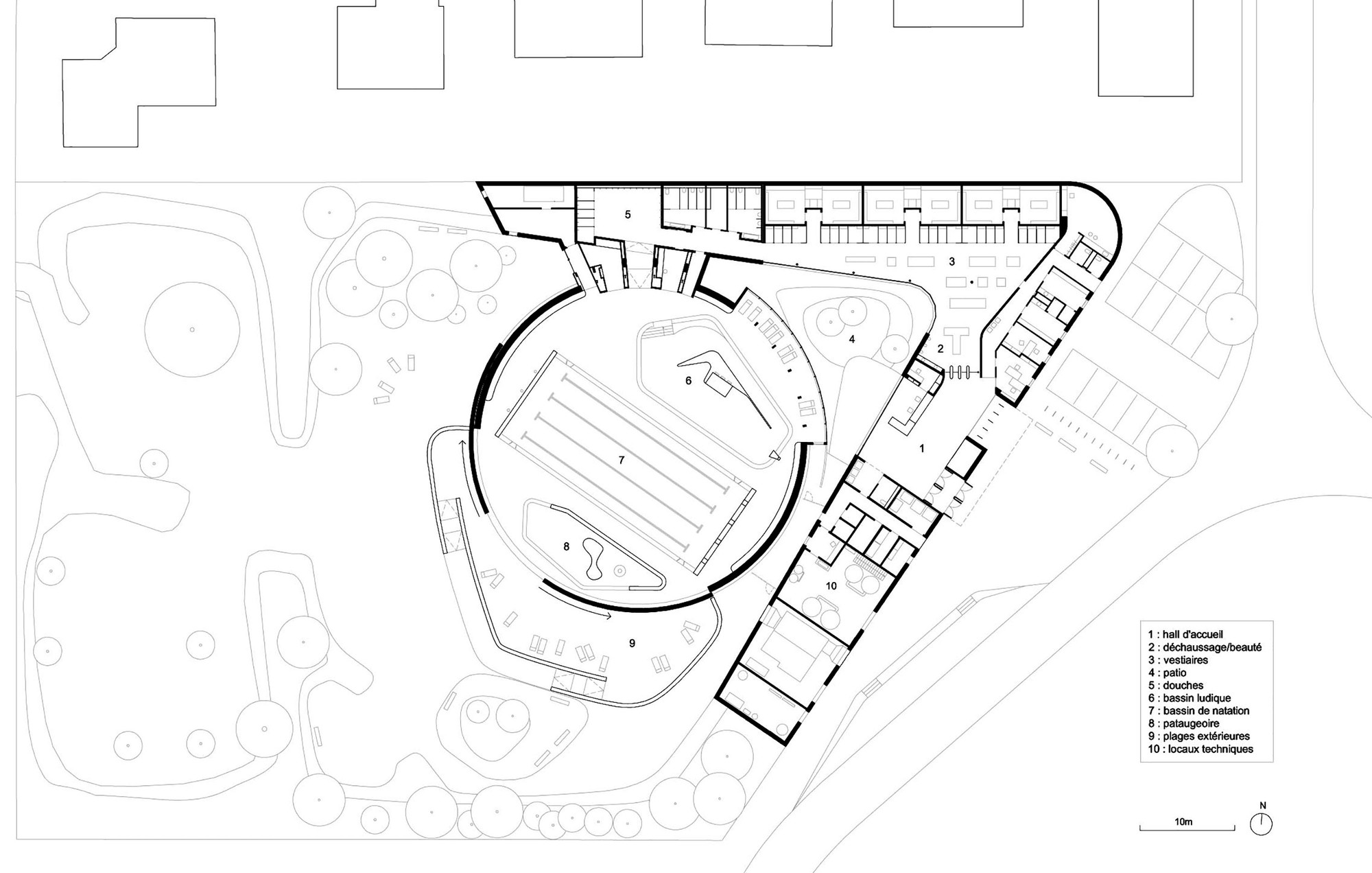 Tournesol swimming pool refurbishment urbane kultur for Swimming pool floor plan