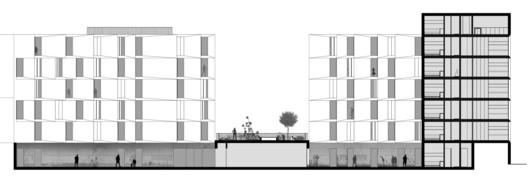 Corte AA. Image Cortesia de AND-RÉ Arquitectura