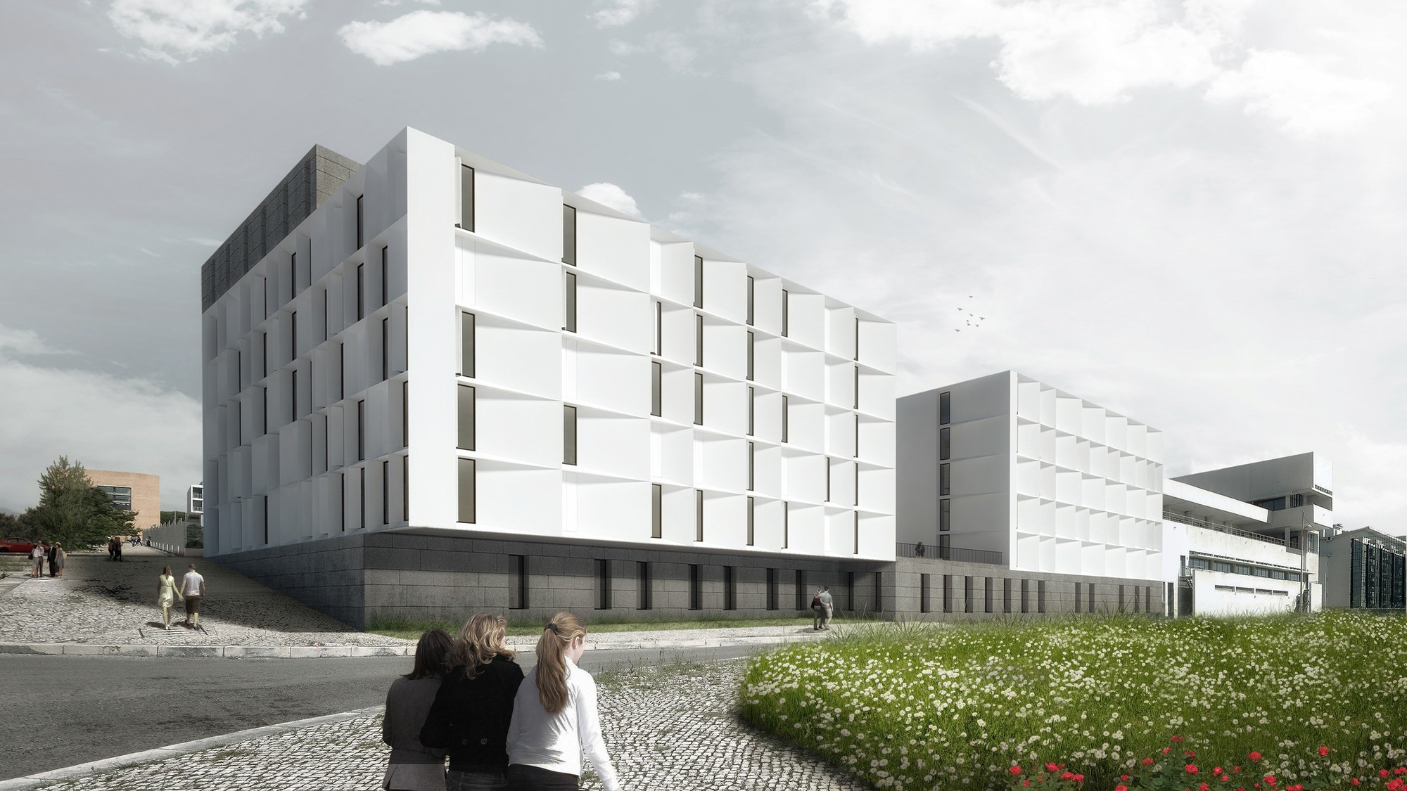 Segundo Lugar no Concurso para a Residência Universitária no Campus da Ajuda / AND-RÉ Arquitectura, Cortesia de AND-RÉ Arquitectura